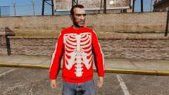Красный свитер -Скелет-