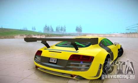 Audi R8 LMS Ultra v1.0.0 для GTA San Andreas вид справа