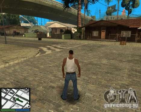 GTA V hud для GTA San Andreas