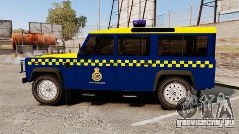 Land Rover Defender HM Coastguard [ELS] для GTA 4 вид слева