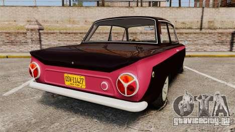 Lotus Cortina 1963 для GTA 4 вид сзади слева
