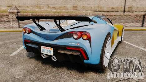 GTA V Grotti Turismo R для GTA 4 вид сзади слева
