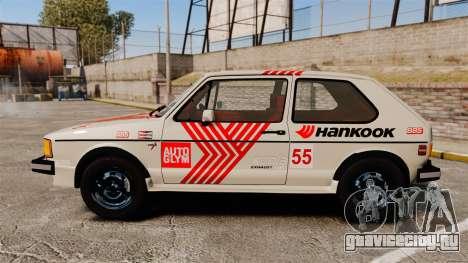Volkswagen Rabbit GTI 1984 для GTA 4 вид слева