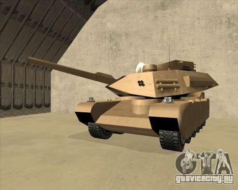 Rhino Mark.VI для GTA San Andreas вид изнутри