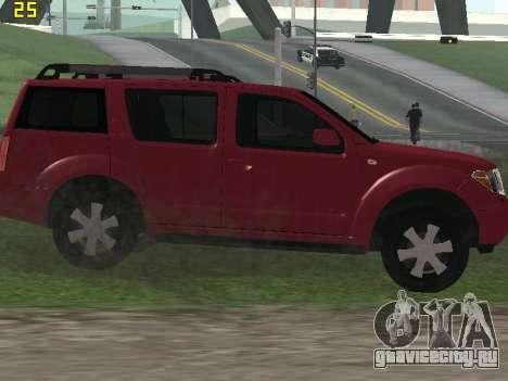Nissan Pathfinder для GTA San Andreas вид сзади