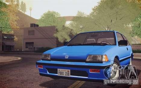 Honda Civic S 1986 IVF для GTA San Andreas вид сзади слева