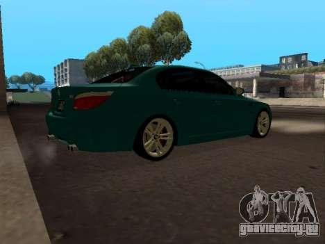 BMW M5 E60 для GTA San Andreas вид справа