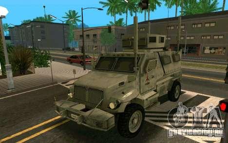 MRAP Mèxico Marines для GTA San Andreas вид слева