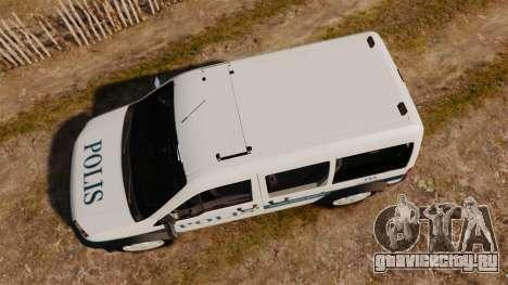 Ford Transit Connect Turkish Police [ELS] v2.0 для GTA 4 вид справа