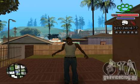 C-HUD Gangster by NickQuest для GTA San Andreas третий скриншот