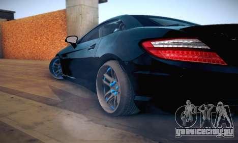 Mercedes Benz SLK55 AMG 2011 для GTA San Andreas вид сбоку