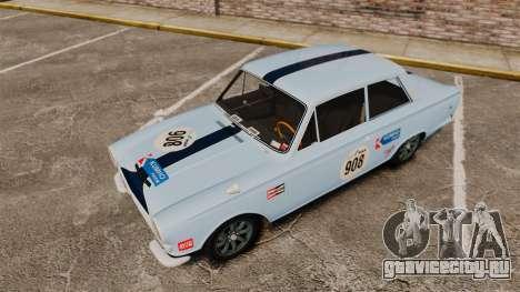 Lotus Cortina 1963 для GTA 4 двигатель