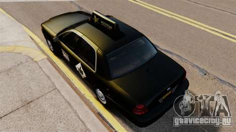 Ford Crown Victoria Cab для GTA 4 вид справа