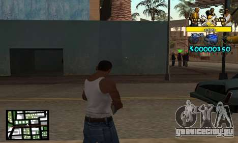 Vagos C-Hud для GTA San Andreas второй скриншот