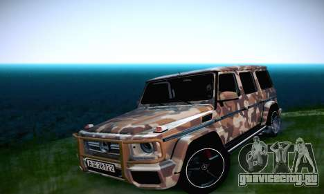 Mercedes Benz G65 Army Style для GTA San Andreas вид изнутри