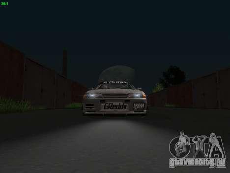 Nissan Skyline BNR32 для GTA San Andreas вид сзади