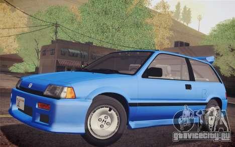 Honda Civic S 1986 IVF для GTA San Andreas вид справа