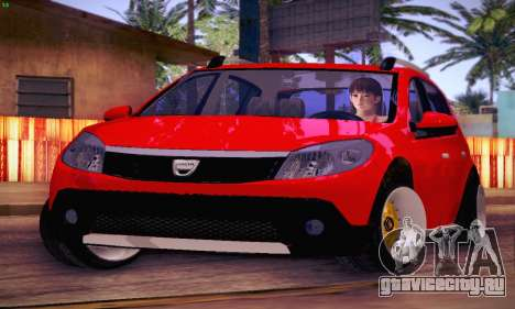 Dacia Sandero для GTA San Andreas вид изнутри