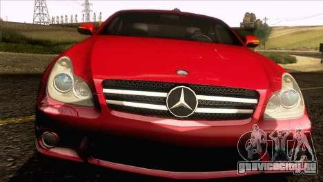 Mercedes-Benz CLS 63 AMG 2008 для GTA San Andreas вид изнутри