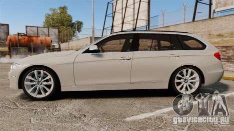 BMW 330d Touring (F31) 2014 Unmarked Police ELS для GTA 4 вид слева