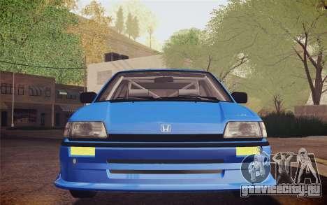 Honda Civic S 1986 IVF для GTA San Andreas вид изнутри