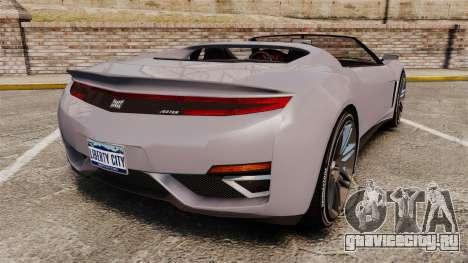 GTA V Dinka Jester Rodster для GTA 4 вид сзади слева