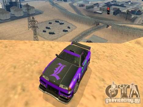 Винилы Luni Team для Elegy для GTA San Andreas вид сзади