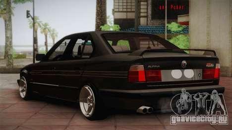 BMW E34 Alpina B10 для GTA San Andreas вид справа