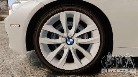 BMW 330d Touring (F31) 2014 Unmarked Police ELS для GTA 4 вид сзади