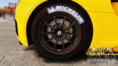 McLaren MP4-12C GT3 (Updated) для GTA 4 вид сзади
