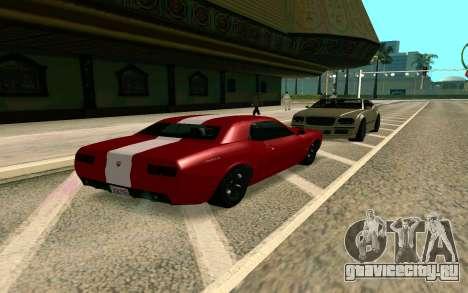 GTA V Gauntlet для GTA San Andreas вид сзади слева