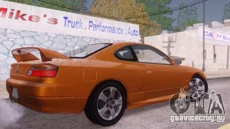 Nissan Silvia S15 для GTA San Andreas вид сзади
