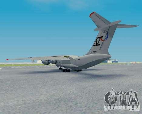 Ил-76ТД Авиакон Цитотранс для GTA San Andreas вид сзади