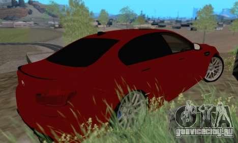 BMW M5 F10 v1.1 для GTA San Andreas вид сзади слева