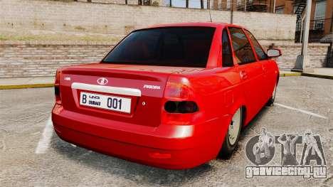 ВАЗ-2170 Dubai для GTA 4 вид сзади слева
