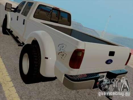 Ford F450 Super Duty 2013 для GTA San Andreas вид сзади слева