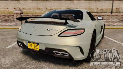 Mercedes-Benz SLS 2014 AMG Black Series для GTA 4 вид сзади слева
