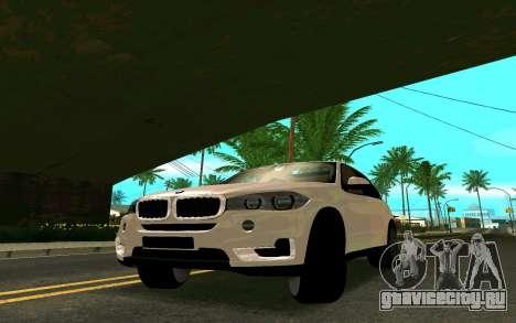BMW X5 F15 для GTA San Andreas вид сзади слева