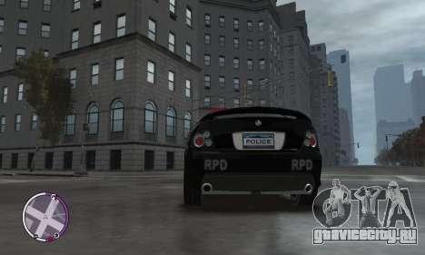 Holden Monaro CV8-R Police для GTA 4 вид изнутри