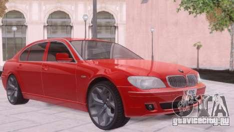 BMW 750Li E66 для GTA San Andreas