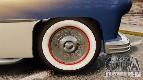 Mercury Lead Sled Custom 1949 для GTA 4 вид сзади