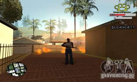 C-HUD Gangster by NickQuest для GTA San Andreas второй скриншот