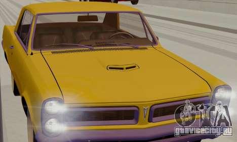Pontiac GTO 1965 для GTA San Andreas вид справа