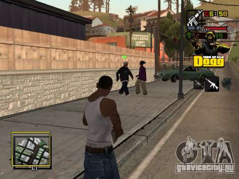 C-HUD Snoop Dogg для GTA San Andreas третий скриншот