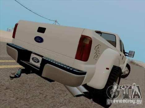 Ford F450 Super Duty 2013 для GTA San Andreas вид справа