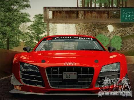 Audi R8 LMS Ultra W-Racing Team Vinyls для GTA San Andreas вид сзади слева