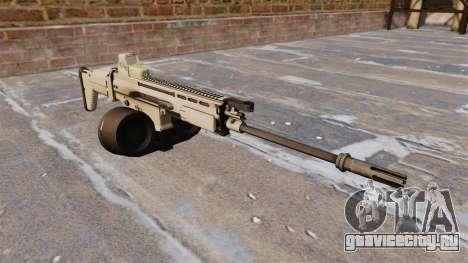 Автоматическая винтовка FN SCAR-H LMG для GTA 4