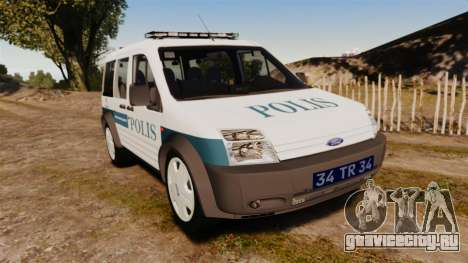 Ford Transit Connect Turkish Police [ELS] v2.0 для GTA 4