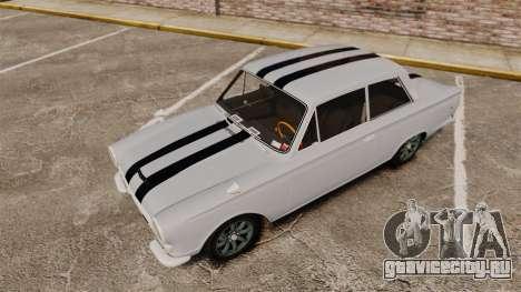 Lotus Cortina 1963 для GTA 4 вид снизу