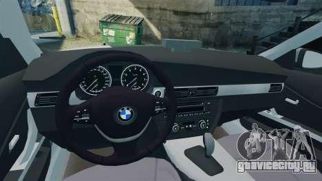 BMW 330i Touring Metropolitan Police [ELS] для GTA 4 вид изнутри